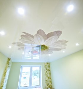 Photo printing on glossy ceiling